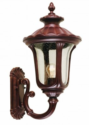 Elstead CC1-M Chicago 1 Light Medium Up Wall Lantern in Rusty Bronze Patina