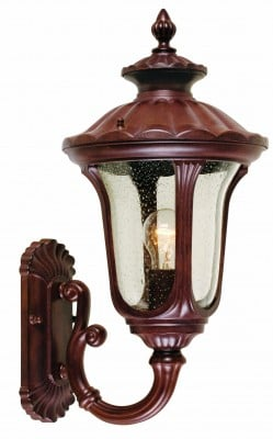 Elstead CC1-S Chicago 1 Light Small Up Wall Lantern in Rusty Bronze Patina
