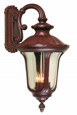 Elstead CC2-L Chicago 4 Light Large Down Wall Lantern in Rusty Bronze Patina