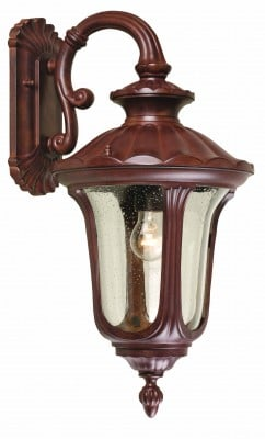 Elstead CC2-M Chicago 1 Light Medium Down Wall Lantern in Rusty Bronze Patina