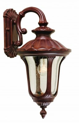 Elstead CC2-S Chicago 1 Light Small Down Wall Lantern in Rusty Bronze Patina