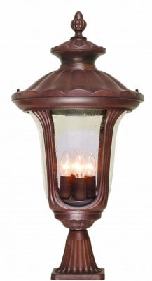Elstead CC3-L Chicago 4 Light Large Pedestal in Rusty Bronze Patina