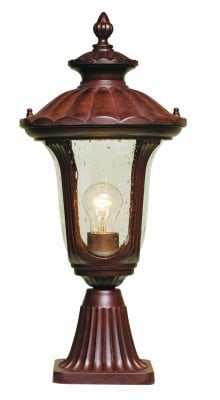 Elstead CC3-S Chicago 1 Light Small Pedestal in Rusty Bronze Patina