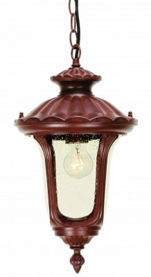 Elstead CC8-S Chicago 1 Light Small Chain Lantern in Rusty Bronze Patina