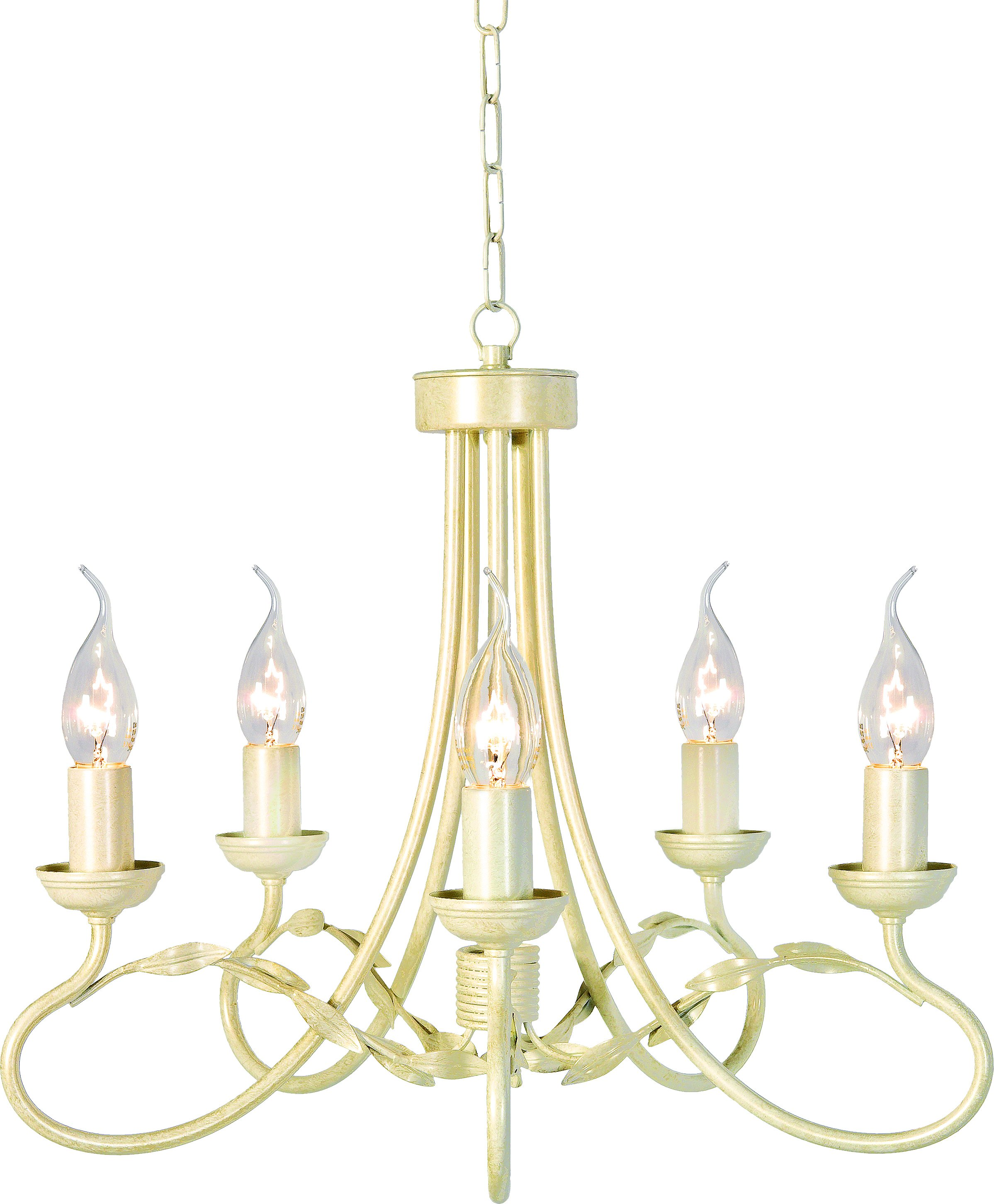 Elstead OV5-IV-GLD Olivia 5 Light Chandelier in Ivory   Gold
