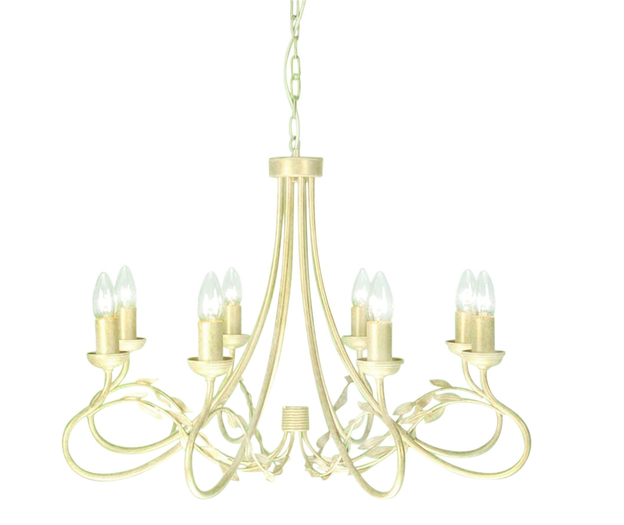 Elstead OV8-IV-GLD Olivia 8 Light Chandelier in Ivory   Gold