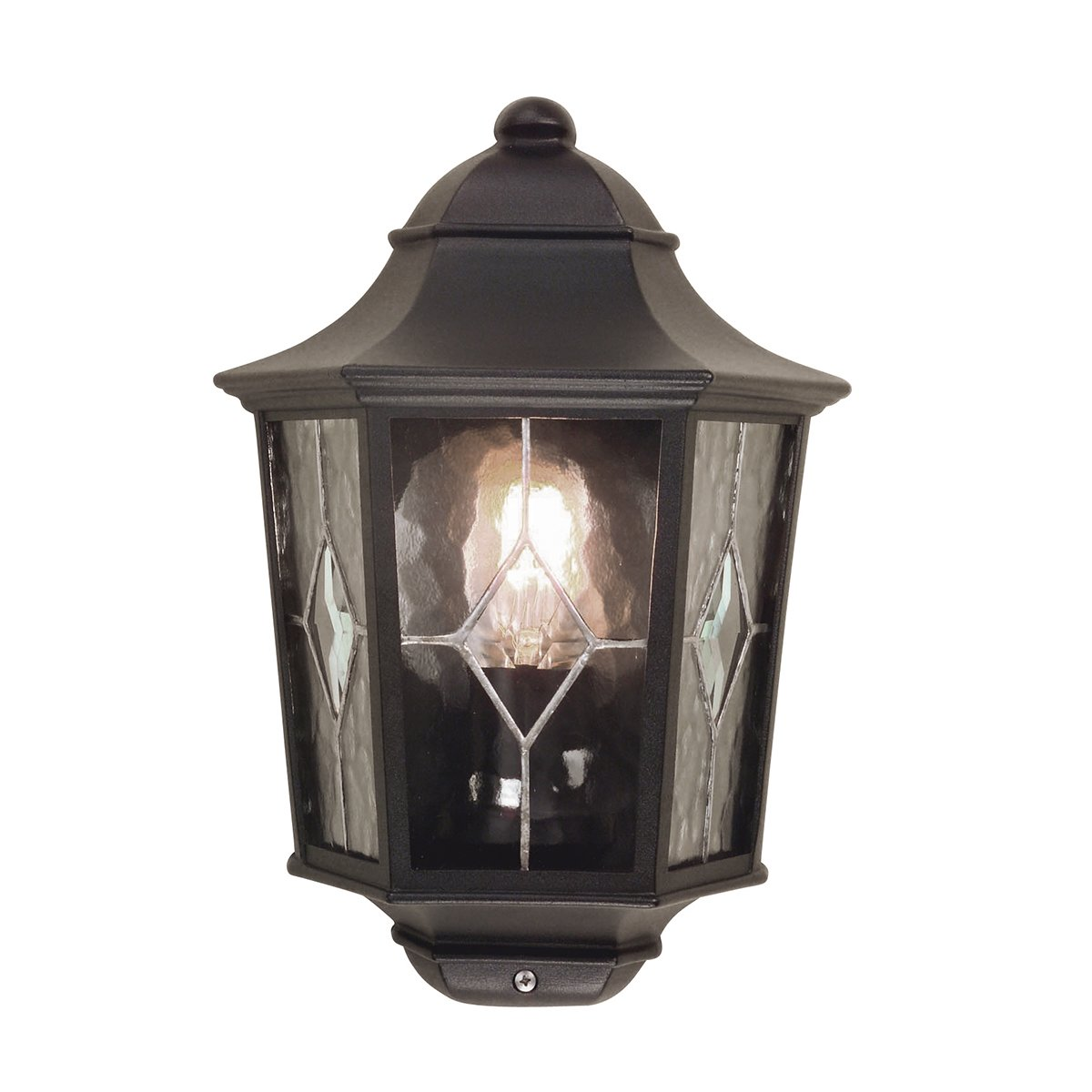 Elstead NR7-2 Norfolk Half Leaded Lantern in Black