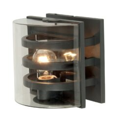 UT-DELTA 1838 Delta Outdoor Wall Light with three bars in Graphite
