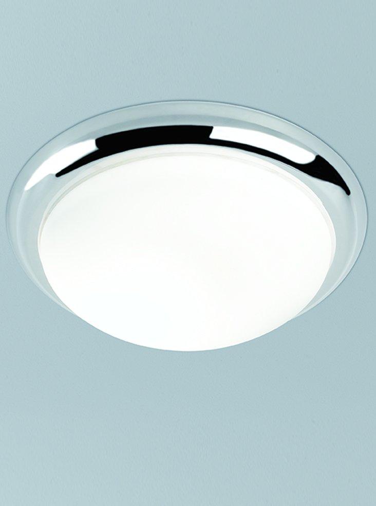 Franklite CF5741 Flush Ceiling Fitting with Chrome Rim 42cm