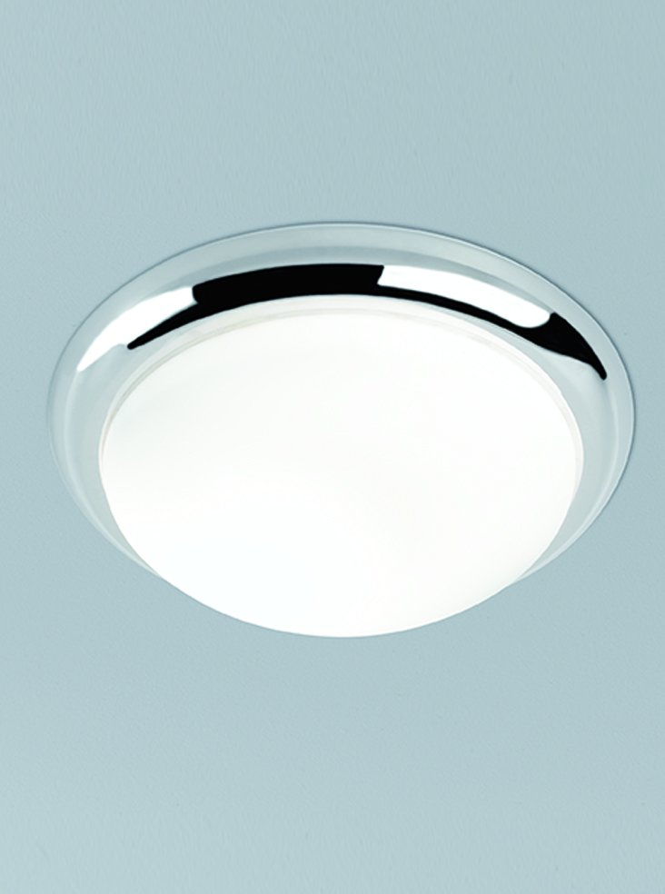 Franklite CF5759 Flush Ceiling Fitting with Chrome Rim 33.5cm