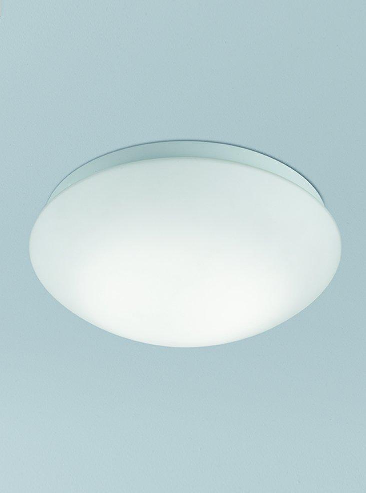 Franklite CF5763  Flush Ceiling Fitting with Matt White Glass 26.5cm