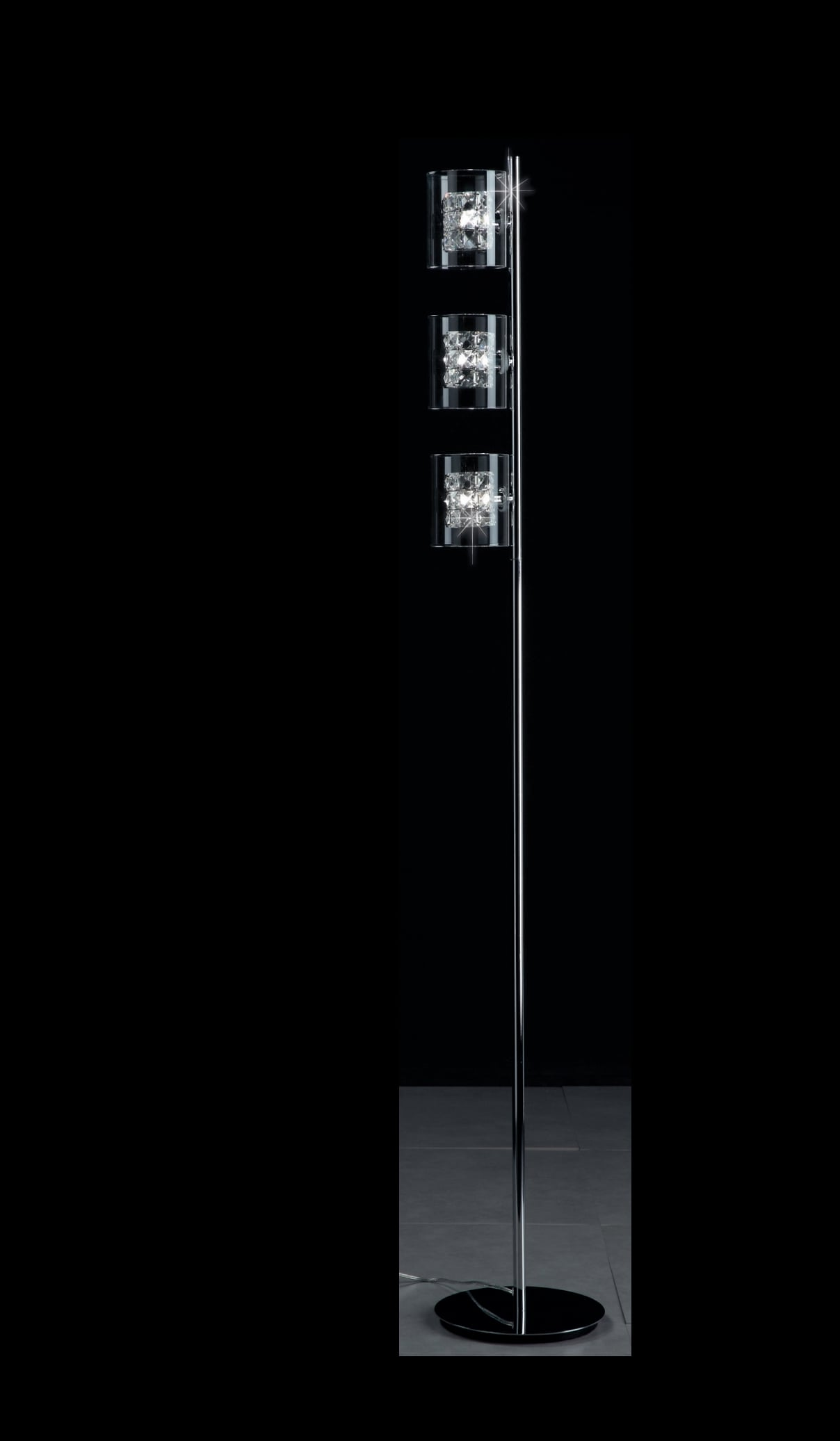 Impex CFH211171/03/FL/CH Sonja 3 Light Floor Lamp in Chrome