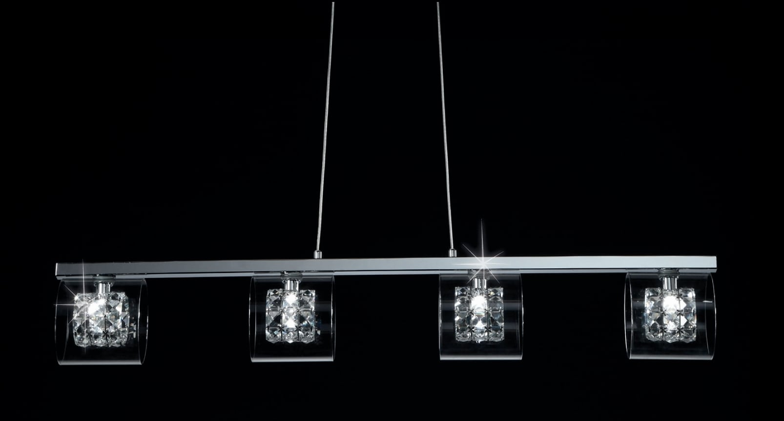 Impex CFH211171/04/BAR/CH Sonja 4 Light Bar Pendant in Chrome