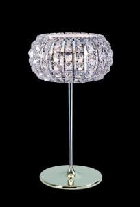 CFH905262/TL/CH Rome 3 Light Crystal Table Lamp in Chrome
