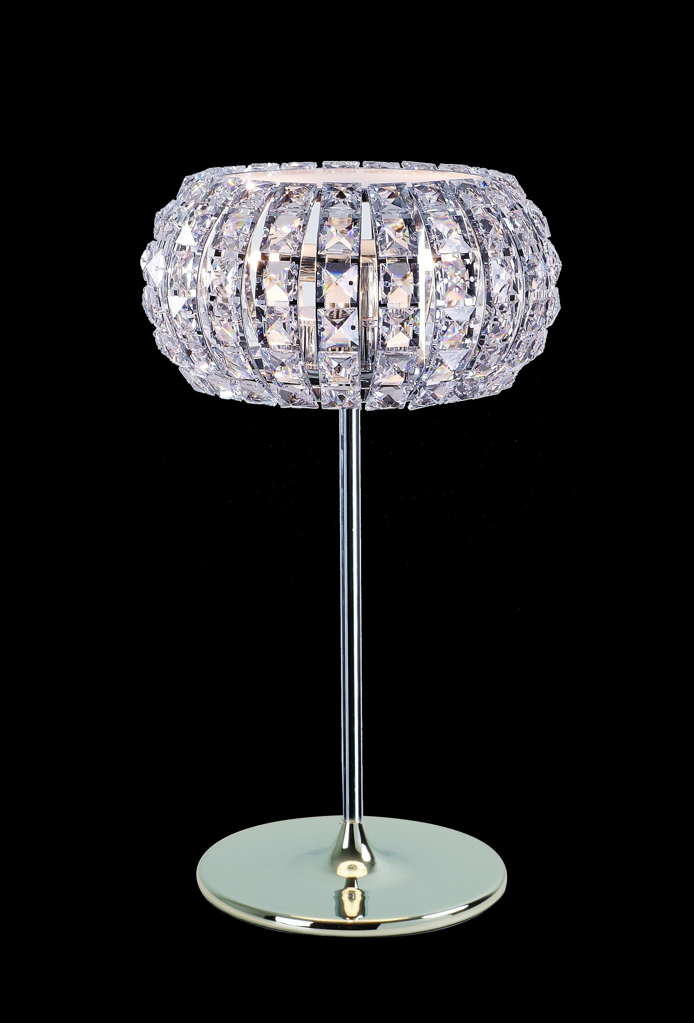 Impex CFH905262/TL/CH Rome 3 Light Crystal Table Lamp in Chrome