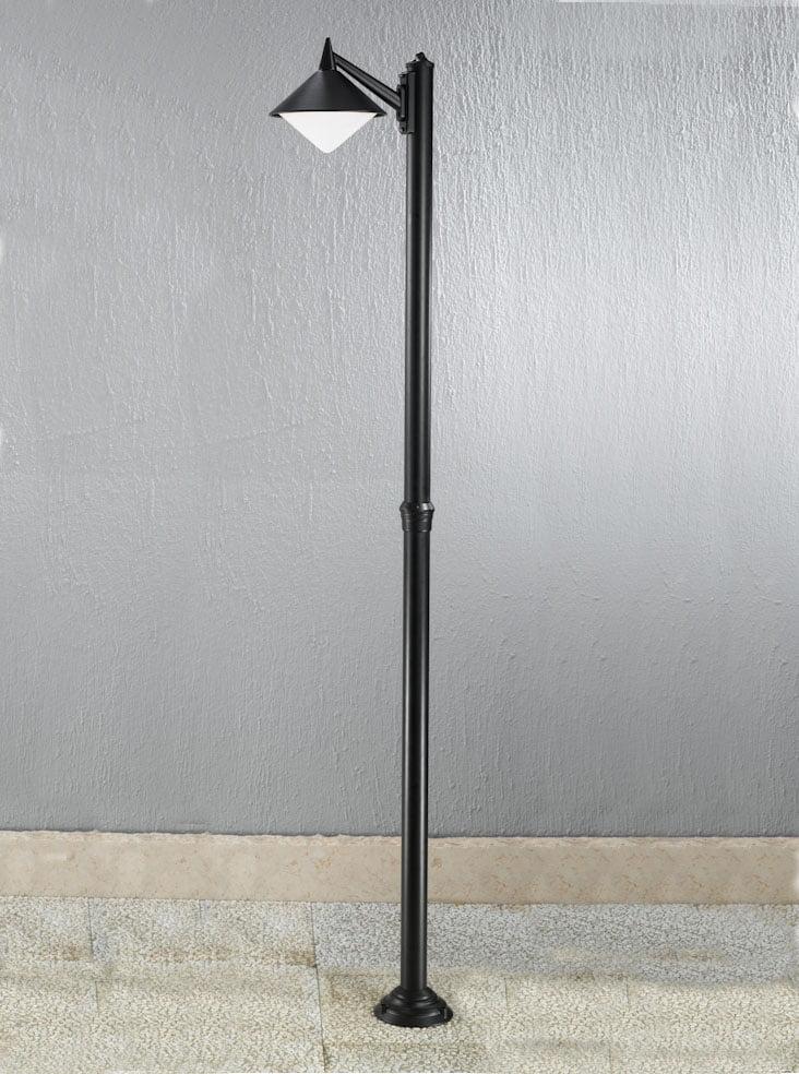 Franklite EXT6587 Sera modern Italian single lamp post, black aluminium