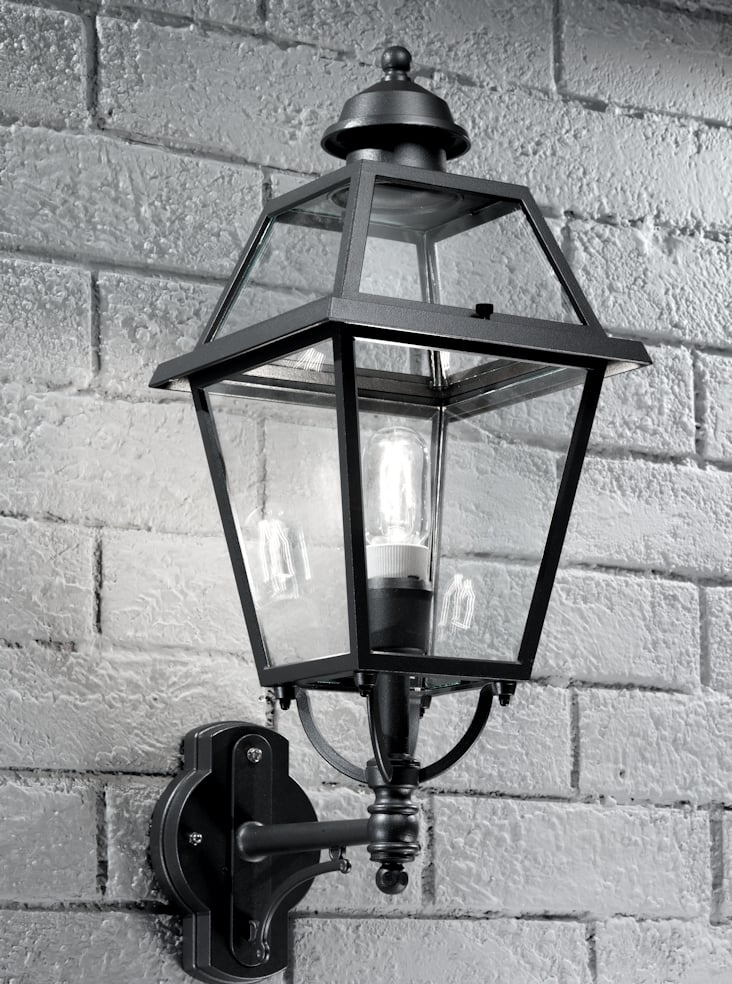Franklite EXT6600 Nerezza Italian wall light up light, dark grey aluminium
