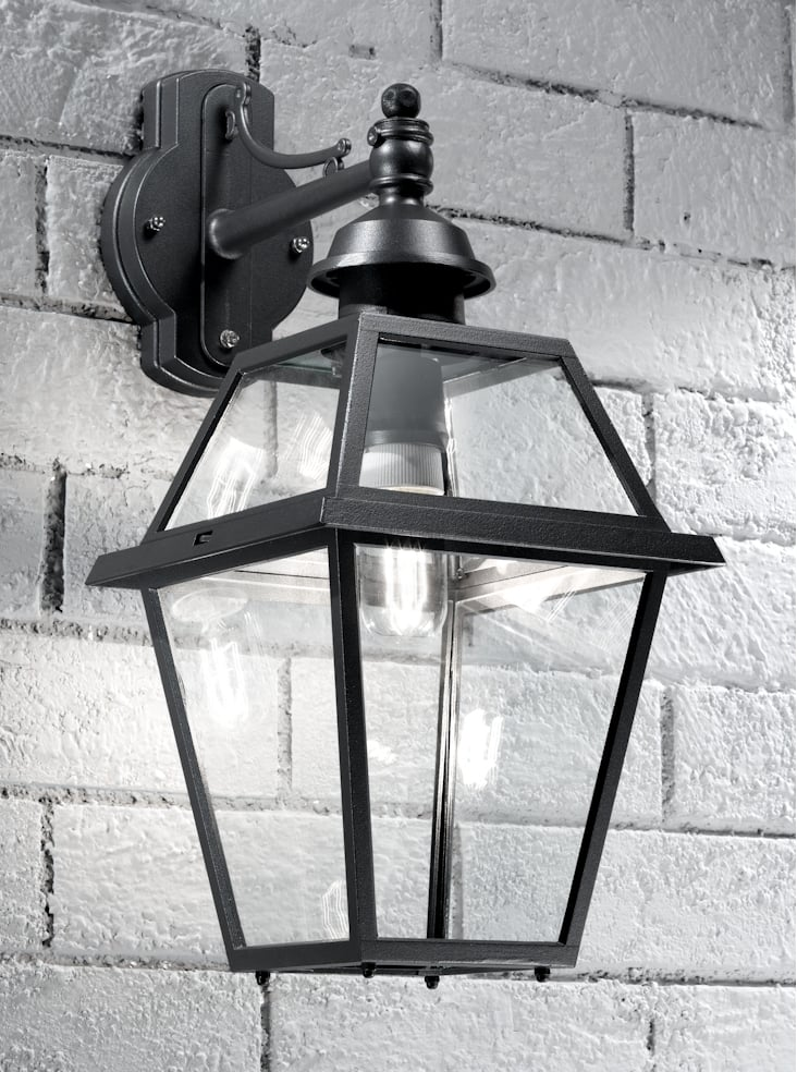 Franklite EXT6601 Nerezza Italian wall light down light, dark grey aluminium