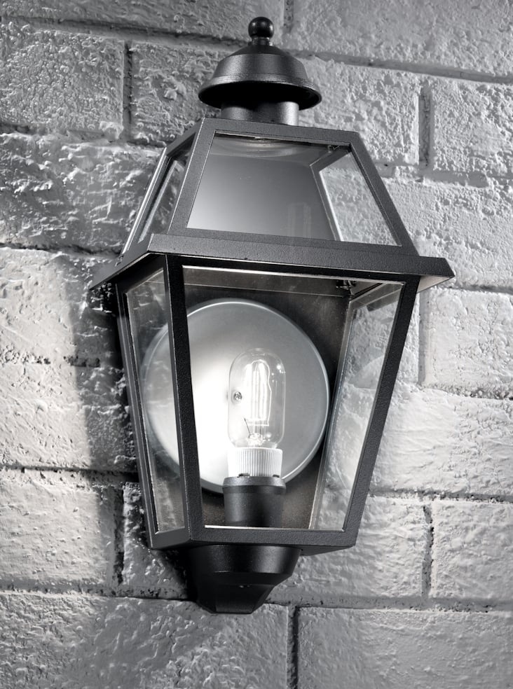 Franklite EXT6602 Nerezza Italian wall light, dark grey aluminium