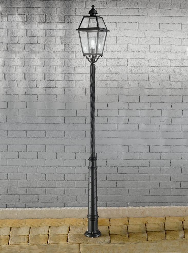 Franklite EXT6604 Nerezza Italian lamp post, dark grey aluminium