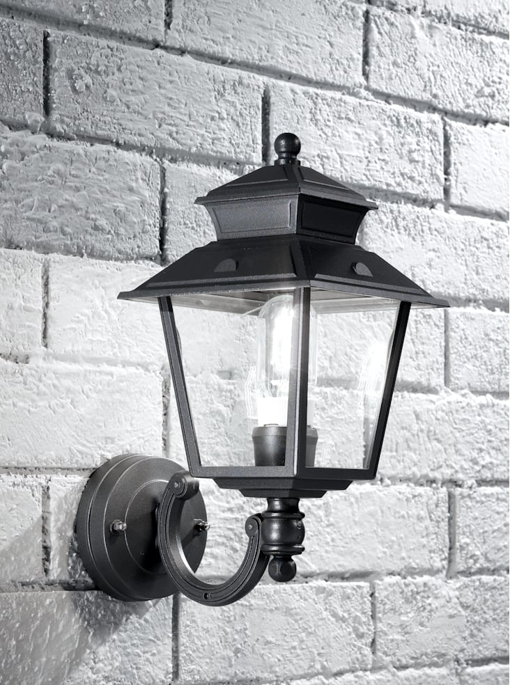 Franklite EXT6605  Giardino italian up lit lantern, dark grey aluminium