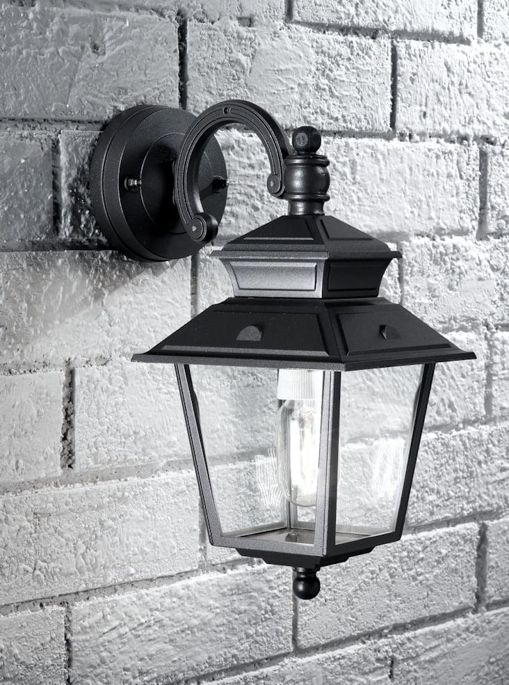 Franklite EXT6606  Giardino italian down lit lantern, dark grey aluminium