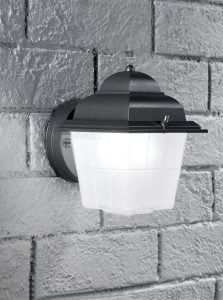 EXT6609 Compact italian wall light, dark grey and satin glass