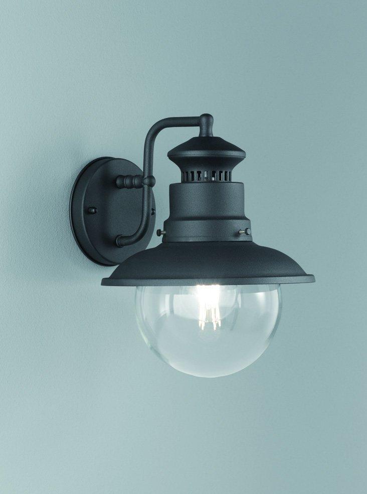 Franklite EXT6614 Exto Exterior Down Lamtern in Black