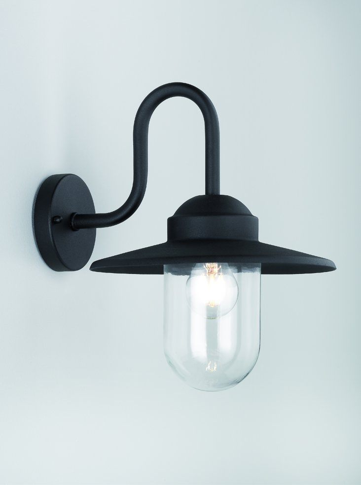 Franklite EXT6615 Exto Exterior Down Lantern in Black