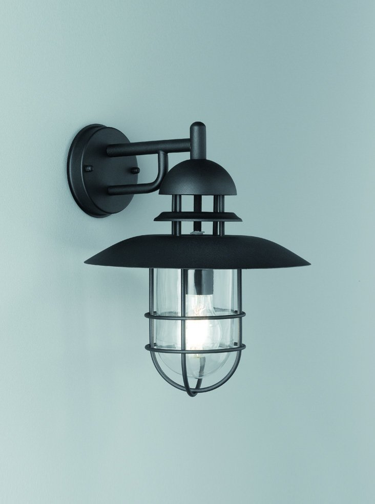Franklite EXT6616 Exto Exterior Down Lamtern in Black