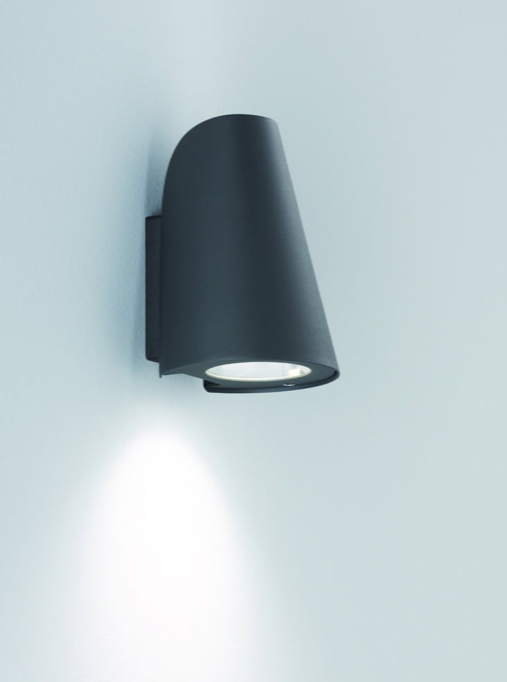 Franklite EXT6618 Exto Exterior Down Light in Black