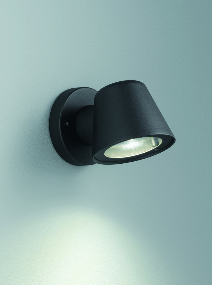 Franklite EXT6619 Exto LED Exterior Down Light in Black