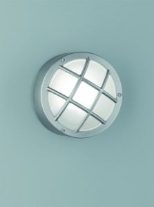 EXT6620 Exto Stainless Steel Bulkhead Flush Fitting with Satin Glass.
