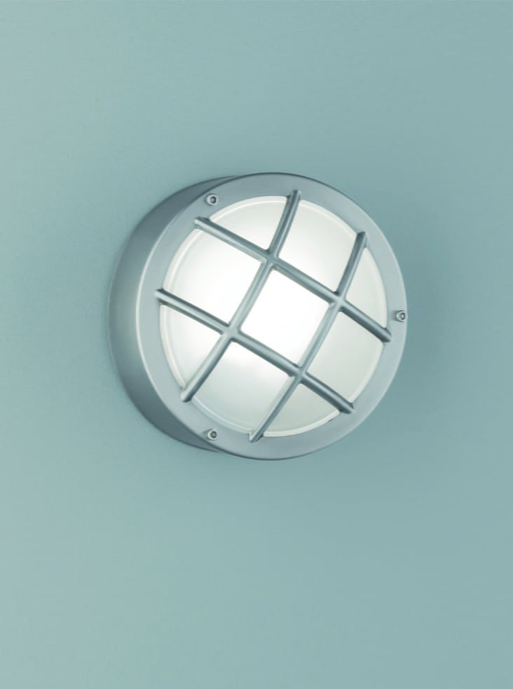 Franklite EXT6620 Exto Stainless Steel Bulkhead Flush Fitting with Satin Glass.