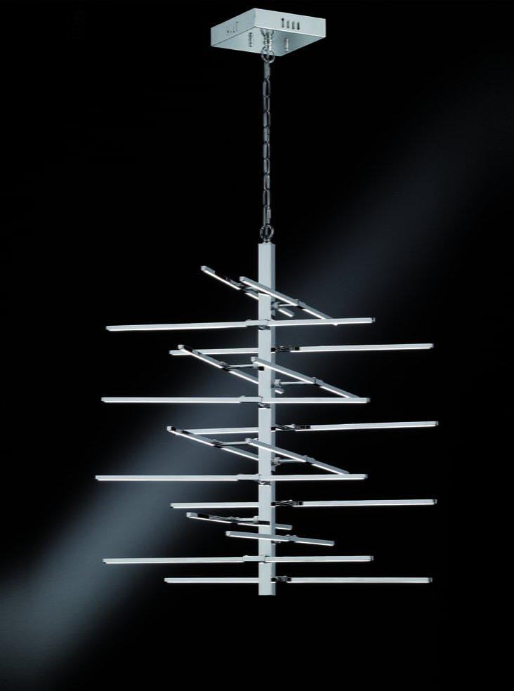 Franklite FL2354/16 Styx modern LED pendant, chrome