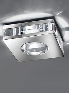 RF267 Low voltage downlight, glass and chrome