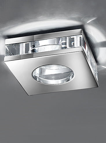 Franklite RF267 Low voltage downlight, glass and chrome