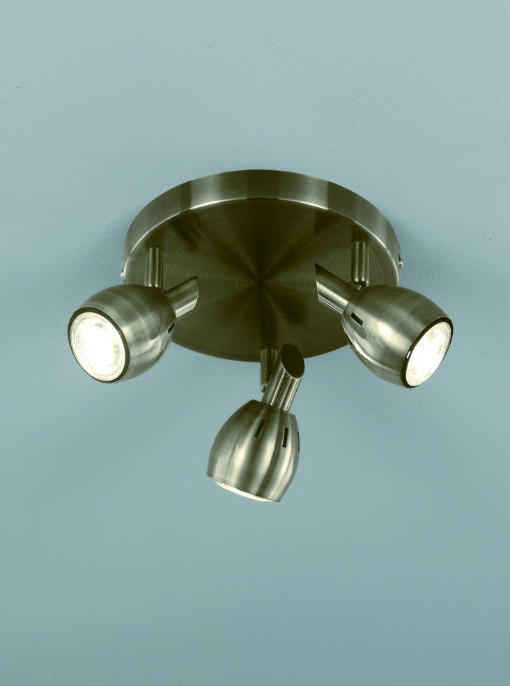 Franklite SPOT9013 Tivoli 3 Light spotlight plate in Bronze