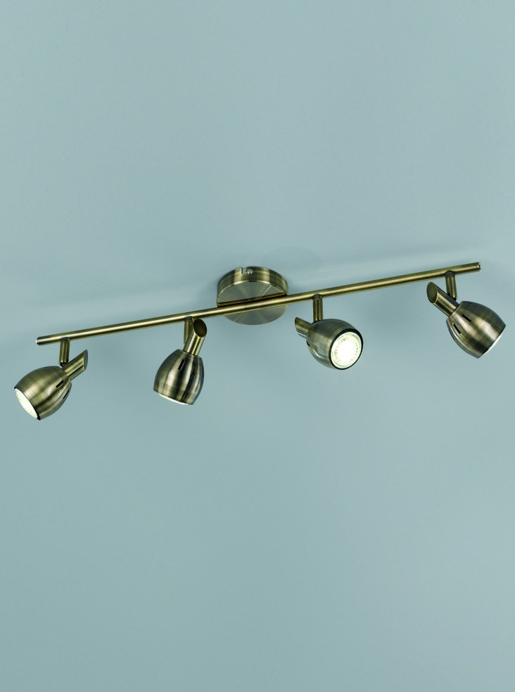 Franklite SPOT9014 Tivoli 4 Light spotlight on a bar in Bronze