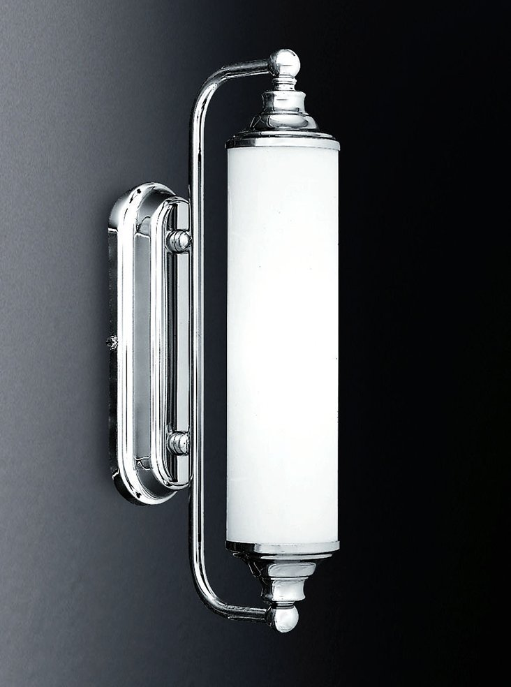 Franklite WB157/363 Bathrrom mirror light, chrome and opal glass