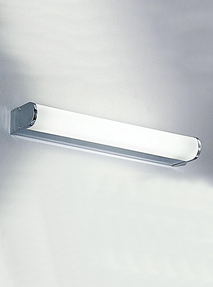 Franklite WB597EL Bathrom strip wall light, Chrome with diffuser