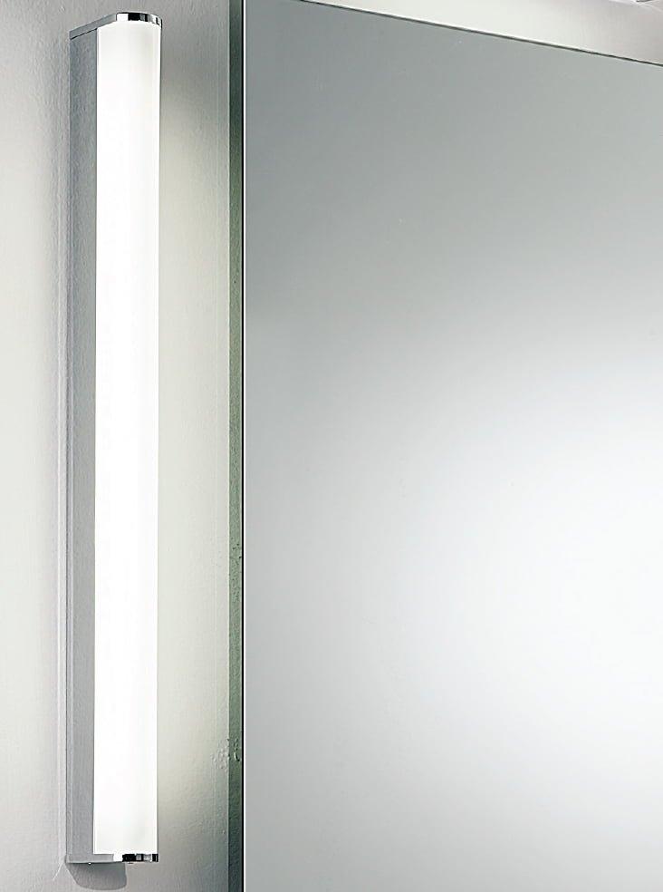 Franklite WB598EL Bathrom strip wall light, Chrome with diffuser