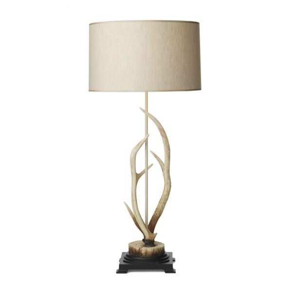 ANT4215 Antler Bleached Table Lamp &  Shade