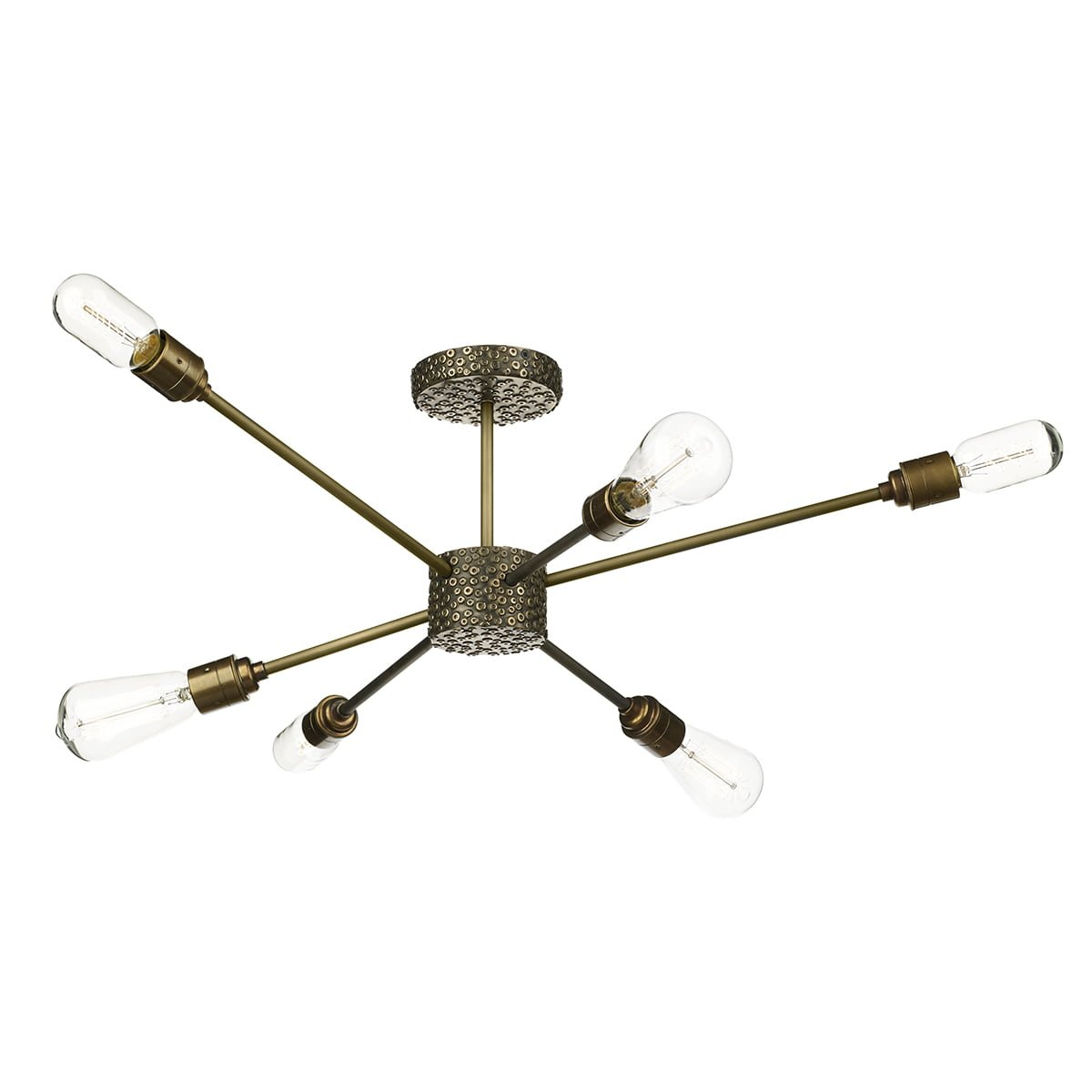 David Hunt Lighting AVI6463 Aviator 6 Light Semi Flush in Bronze