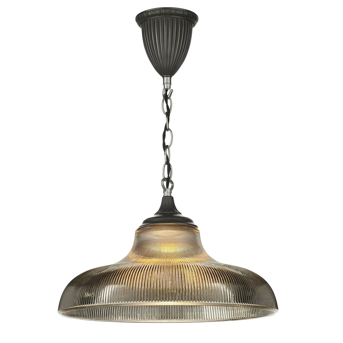 David Hunt Lighting BAD018 Badger 1 Light Pendant in Steel
