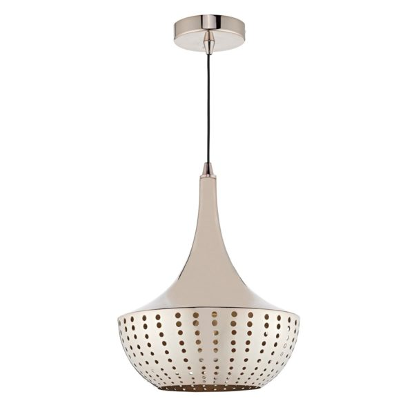 Dar DOT0163 Dot 1 Light Pendant in Bronze