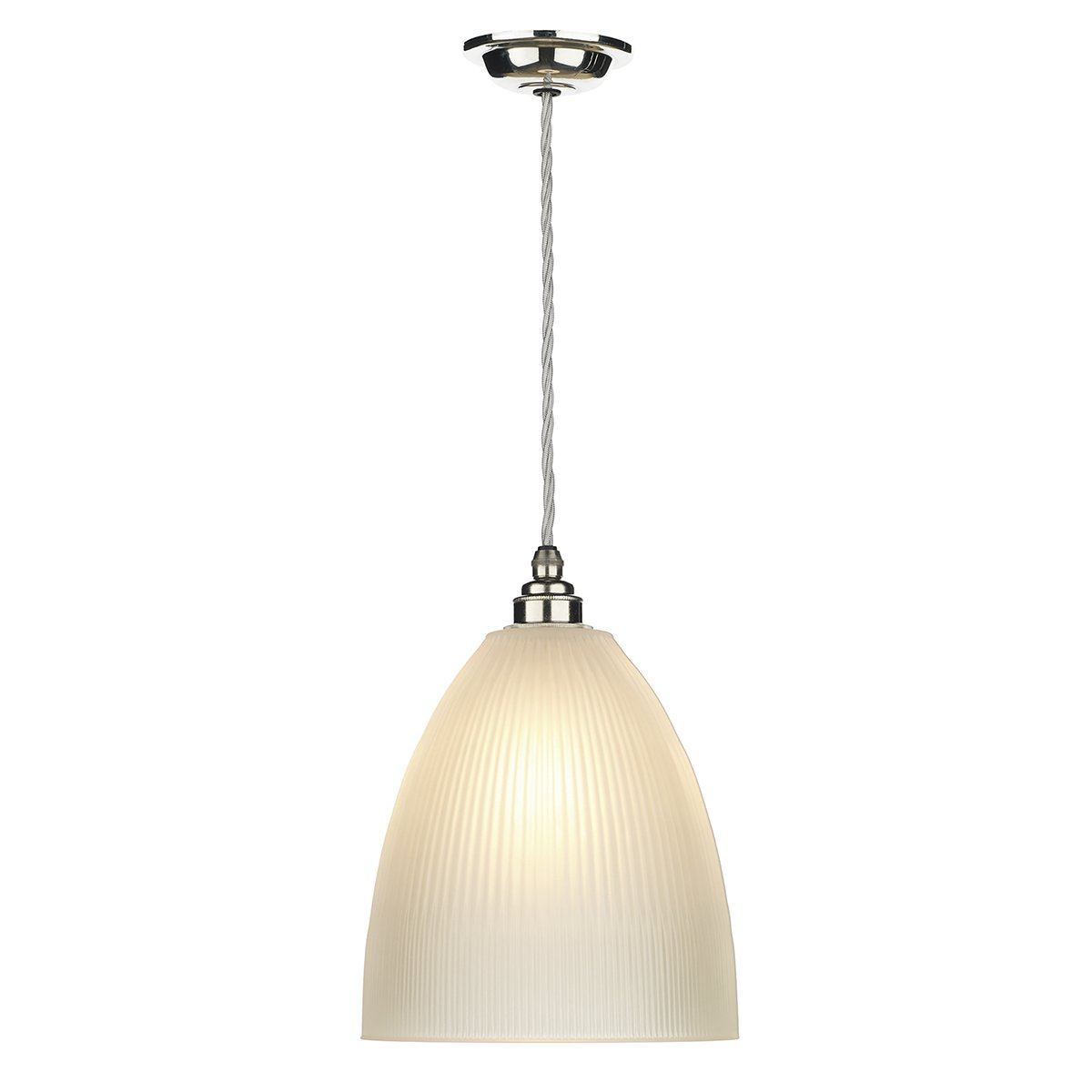 David Hunt Lighting DUX0150 Duxford 1 Light Pendant in Nickel Chrome