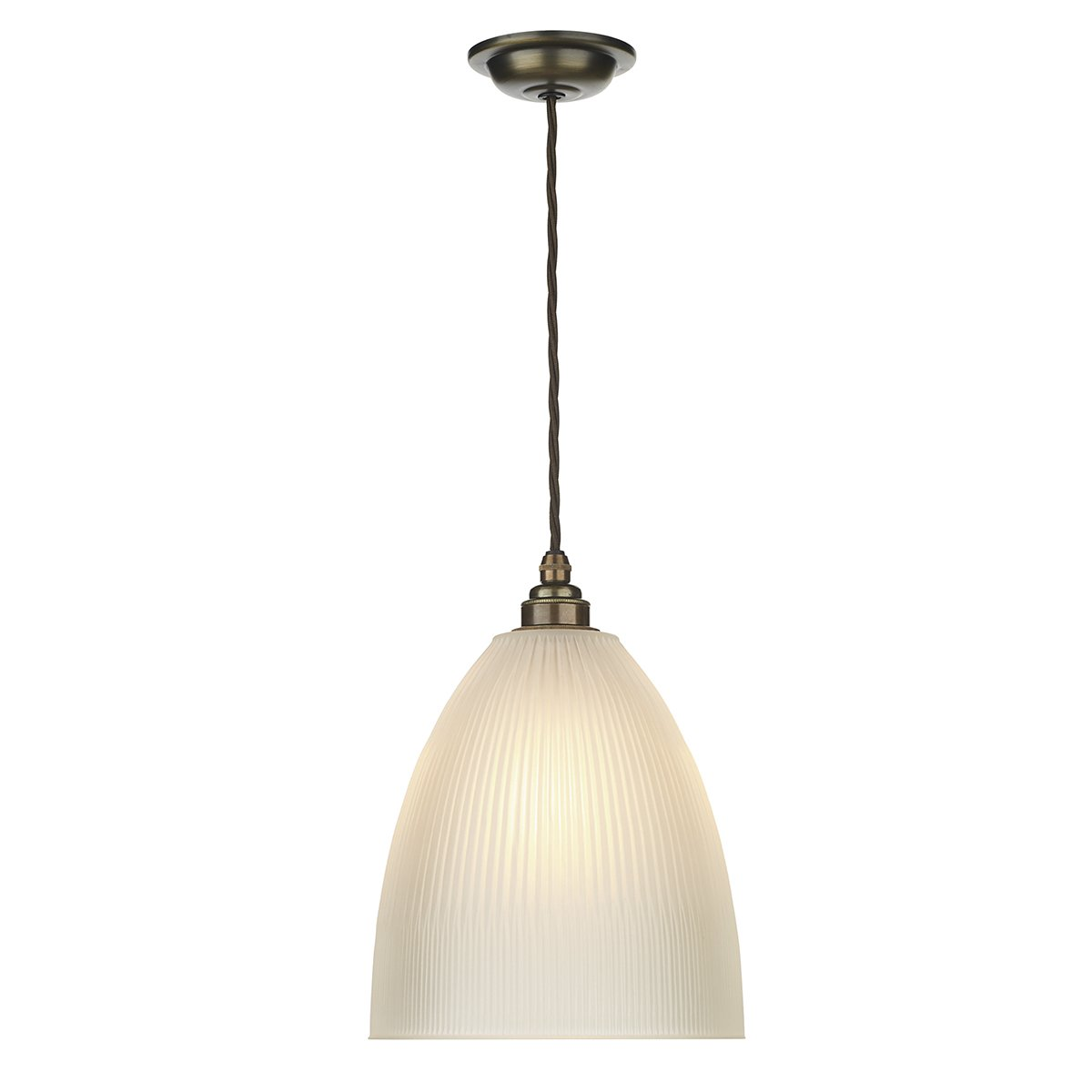 David Hunt Lighting DUX0175 Duxford 1 Light Pendant in Antique Brass