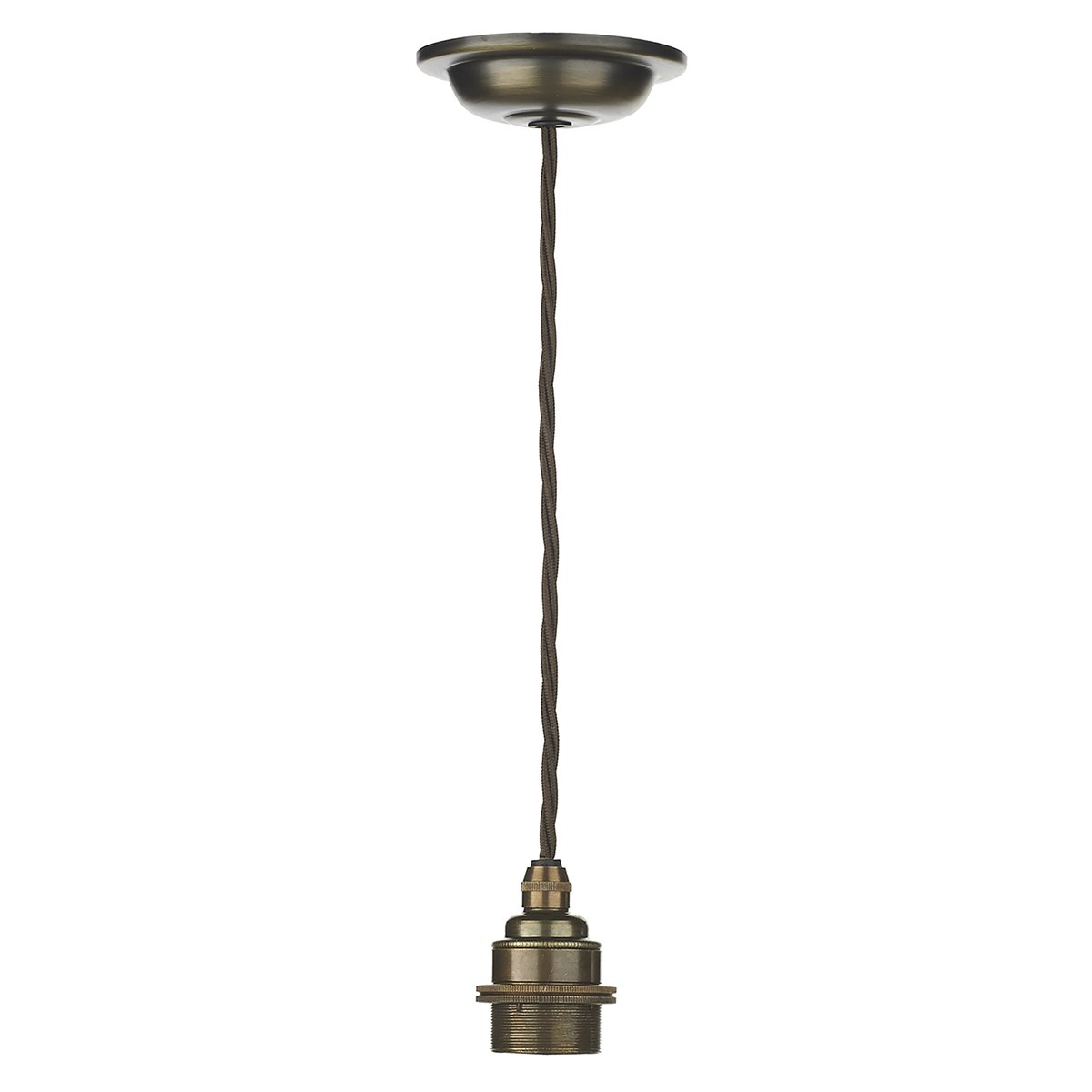 David Hunt Lighting DUX6575 Duxford 1 Light Suspention Unit in Antique Brass