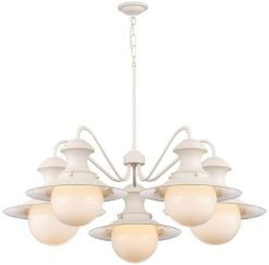 EP5433 Station 5 Light Pendant in Cotswold Cream